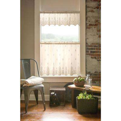 Welcome 60 in. L Polyester Valance in Ecru