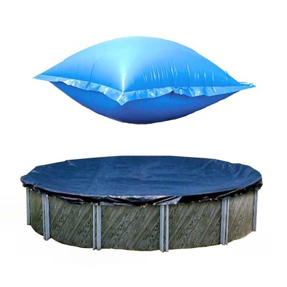 Swimline 24 ft. Round Above Ground Winter Pool Cover with 4 ft. x 8 ft. Closing Air Pillow