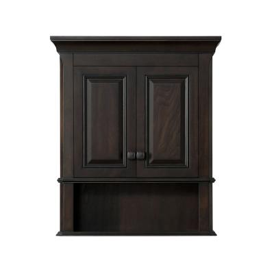 Moorpark 24 in. W Wall Cabinet in Burnished Walnut