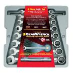 12-Point SAE Ratcheting Combination Wrench Set (8-Piece)
