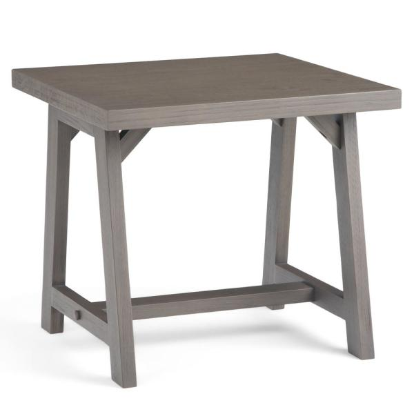 Simpli Home Sawhorse Solid Wood 22 in. Wide Square Modern Industrial
