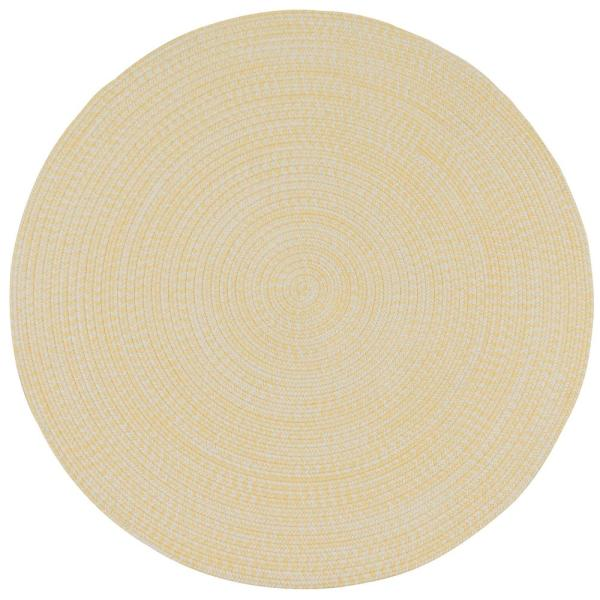 Colonial Mills Kaari Sunflower 10 Ft X 10 Ft Tweed Indoor Outdoor Round Area Rug Ka98r120x120 The Home Depot