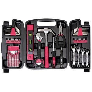 apollo household tool kit pink 53 piece dt9408p the home depot. Black Bedroom Furniture Sets. Home Design Ideas