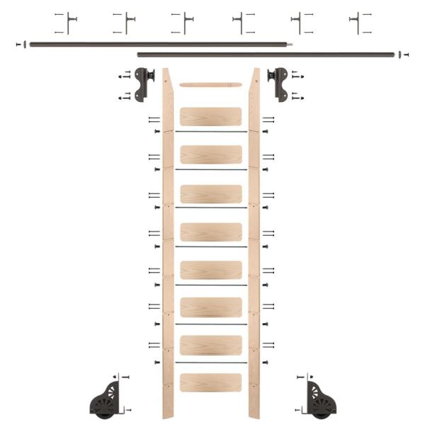 Cotterman rolling library ladders 9 ft feet 10 step PICKUP ONLY with hardware