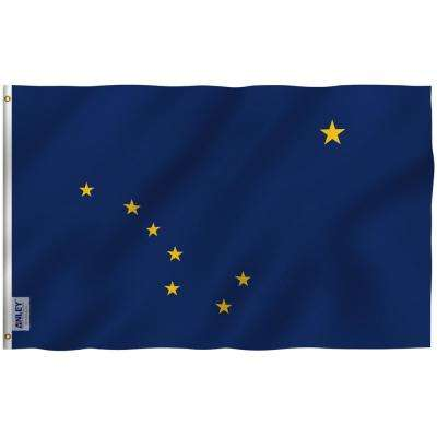 Outstanding Fly Breeze 3 Ft X 5 Ft Polyester Alaska State Flag 2 Sided Flags Banners With Brass Grommets And Canvas Header Home Interior And Landscaping Ologienasavecom