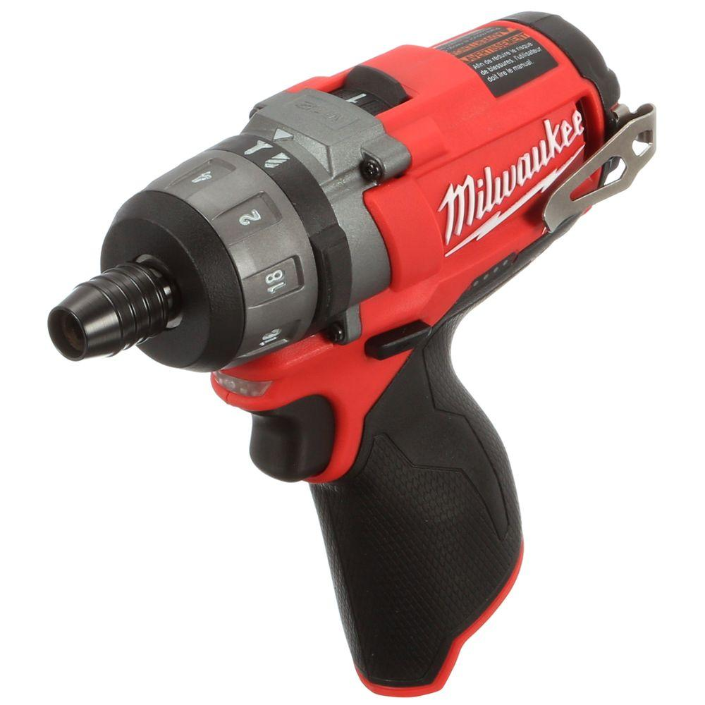 Milwaukee M12 FUEL 12-Volt Cordless Brushless 1/4 in. Hex 2-Speed Screwdriver (Tool-Only)