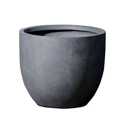 Large Round Stone Fiberclay Planter