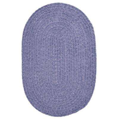 Dover Chenille Lavender 5 ft. x 7 ft. Oval Braided Area Rug