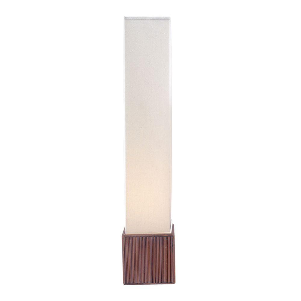 Adesso sebu 50 in teak floor lamp 3004 14 the home depot teak floor lamp mozeypictures Gallery