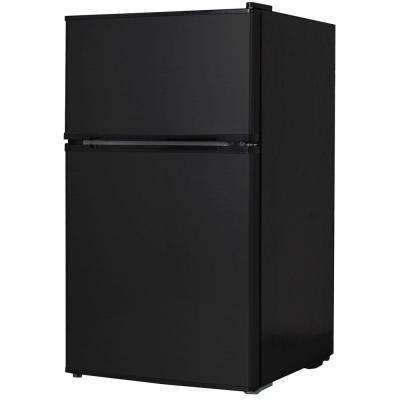 3.1 cu. ft. Mini 2-Door Refrigerator in Black, ENERGY STAR
