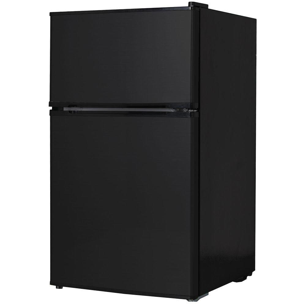 3.1 cu. ft. Mini 2-Door Refrigerator in Black, ENERGY STAR