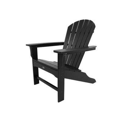 Yacht Club Shellback Charcoal Black Plastic Patio Adirondack Chair