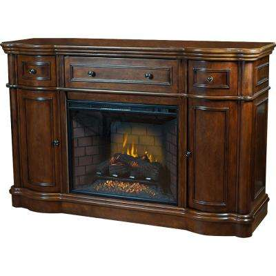 Bold Flame Vanderbuilt 63 in. Media Console Electric Fireplace in Walnut