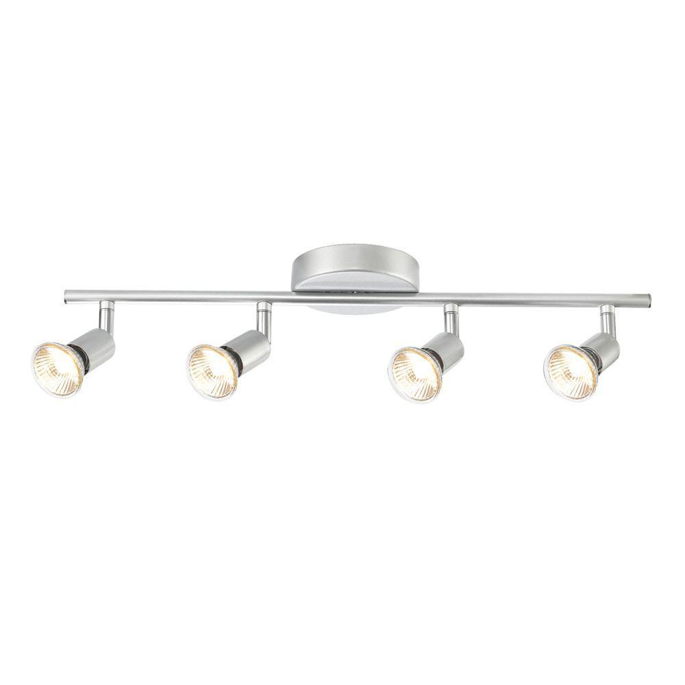 Home Depot Track Lighting: Globe Electric Payton 4-Light Matte Silver Adjustable