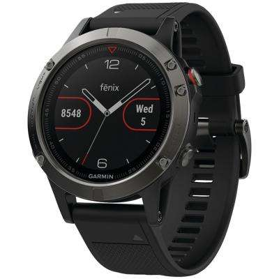 Fenix 5 47 mm GPS Multisport Watch in Slate Gray with Black Band