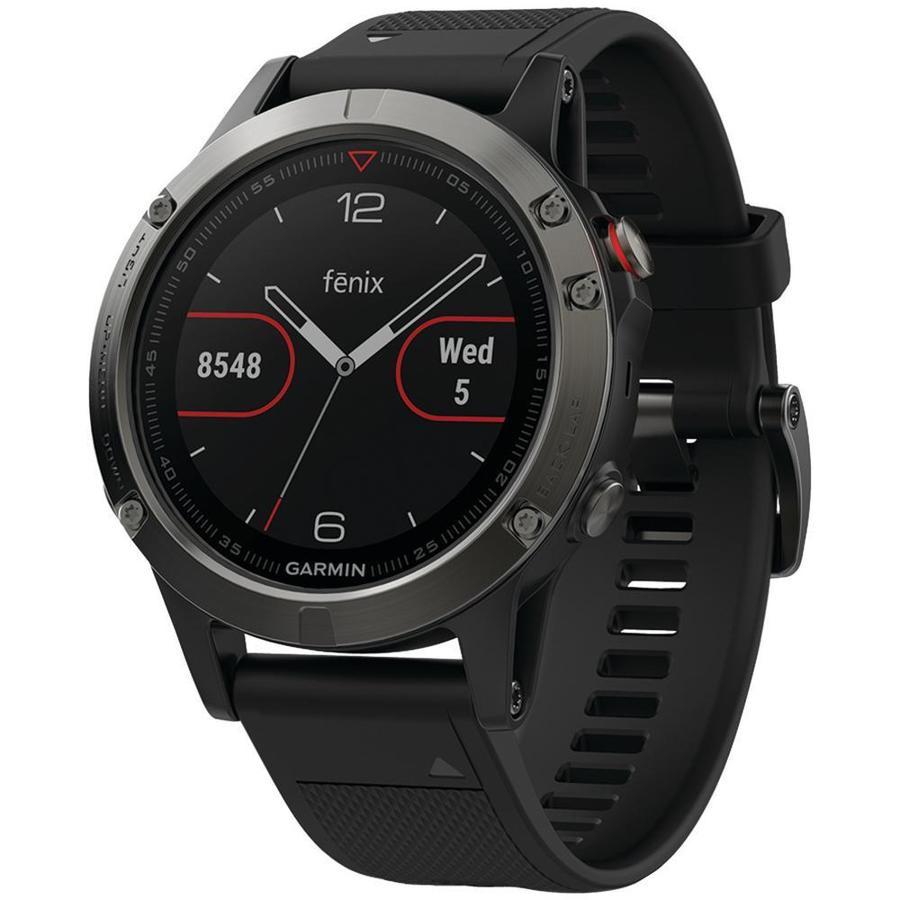 Fenix 5 47 mm GPS Multisport Watch in Slate Gray with Black Band