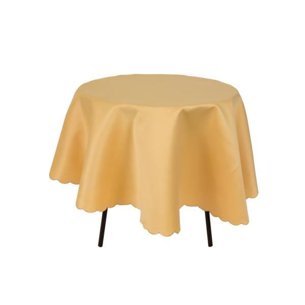 0.1 in. H x 70 in. W Round Gamboge Solid Tablecloth