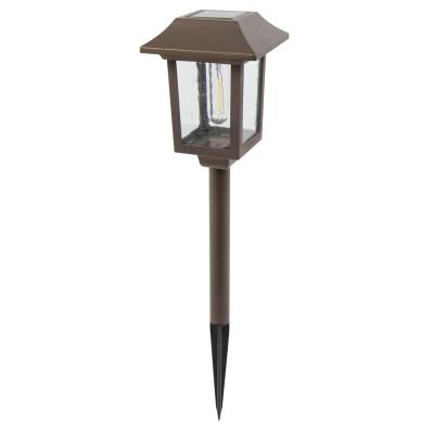 Solar Golden Bronze Outdoor Integrated Filament LED Path Light (6-Pack)