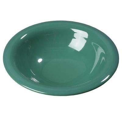 12 oz., 7.25 in. Diameter Wide Rim Melamine Rimmed Bowl in Meadow Green (Case of 24)