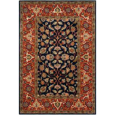 Royalty Navy/Rust 6 ft. x 9 ft. Area Rug
