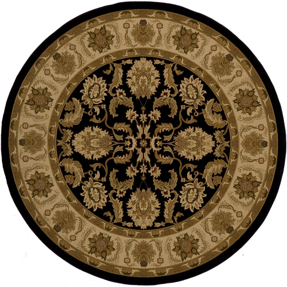 Momeni Lovely Black 7 ft. 10 in. x 7 ft. 10 in. Round Area Rug