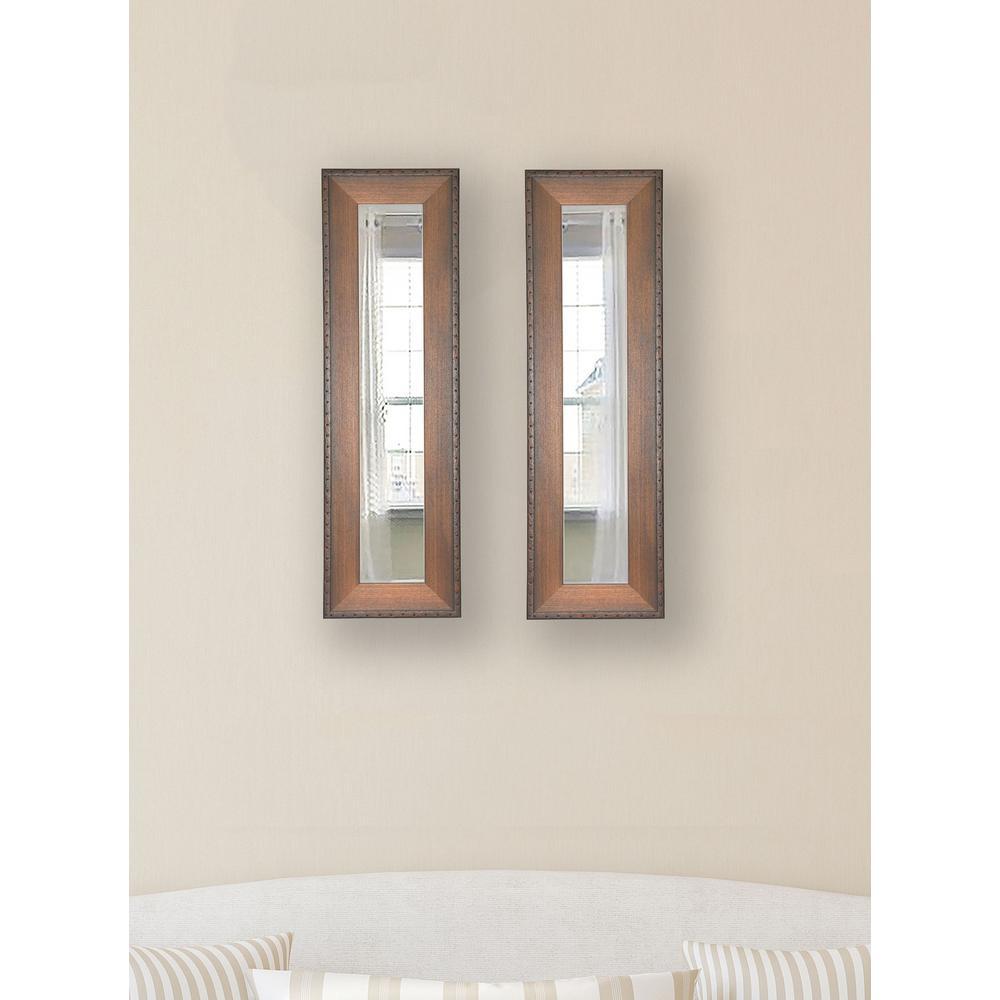 11.5 in. x 29.5 in. Timber Estate Vanity Mirror (Set of 2-Panels)