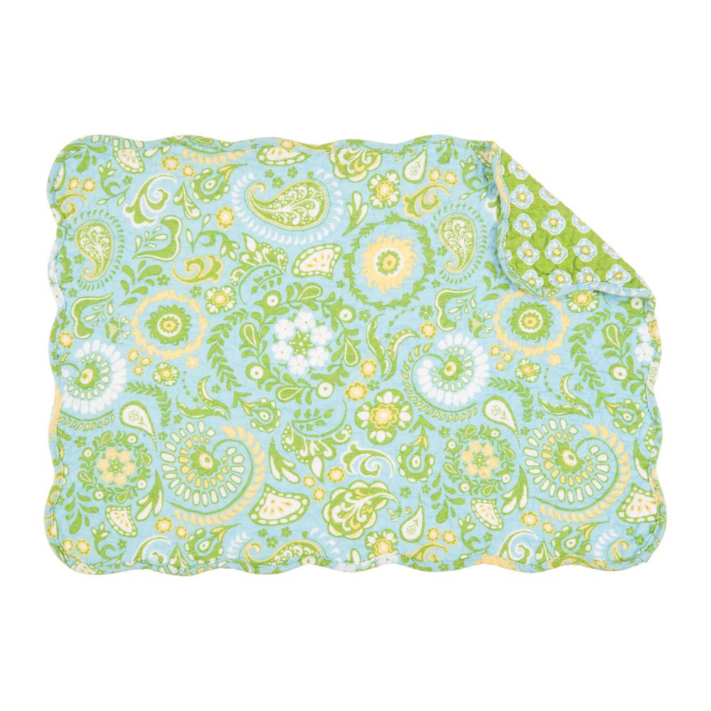 Green Zoe Quilted Placemat Set Of 6