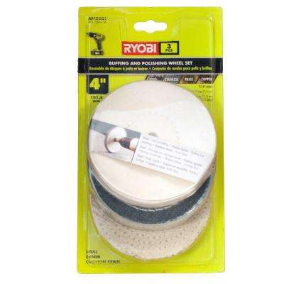 4 in. Buffing Wheel Set (3-Piece)