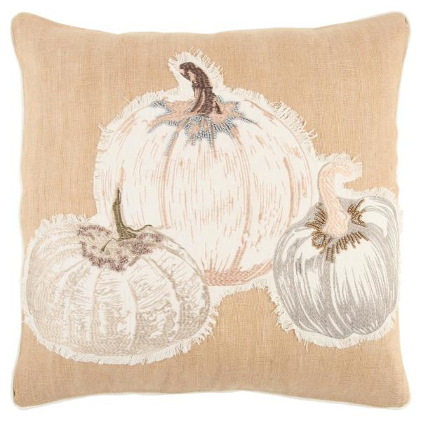Rizzy Home Harvest Pumpkins 20 in. x 20 in. Decorative Filled