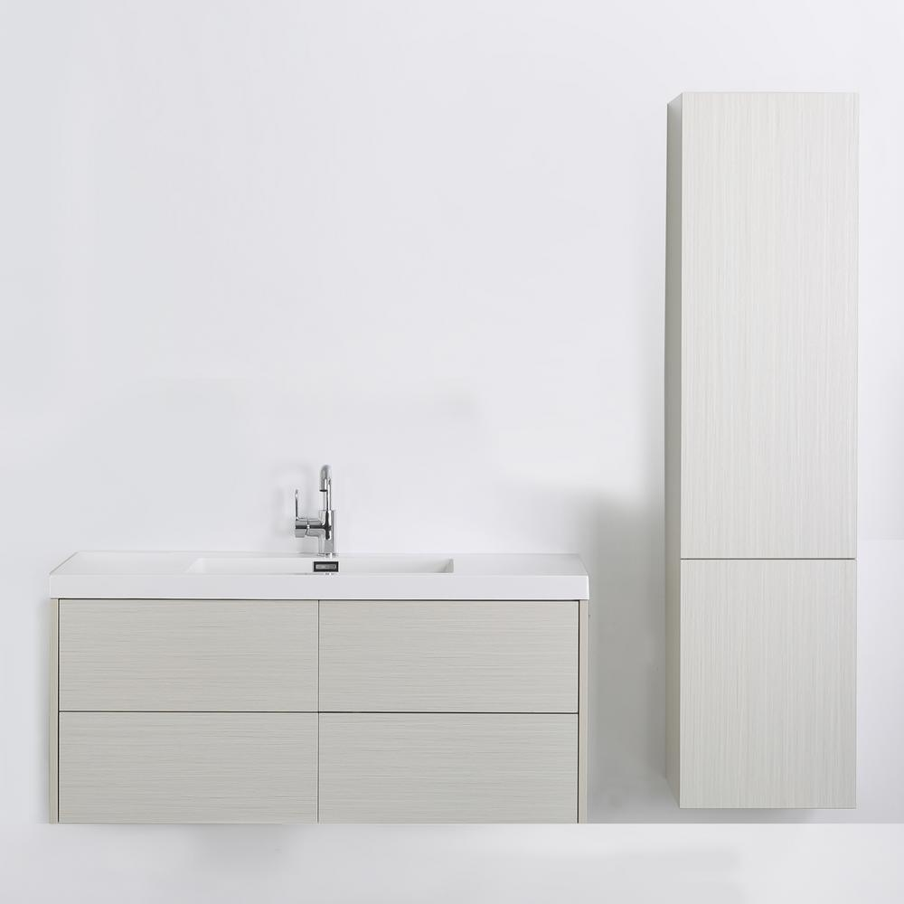 Streamline 47.2 in. W x 19.5 in. H Bath Vanity in Gray with Resin Vanity Top in White with White Basin