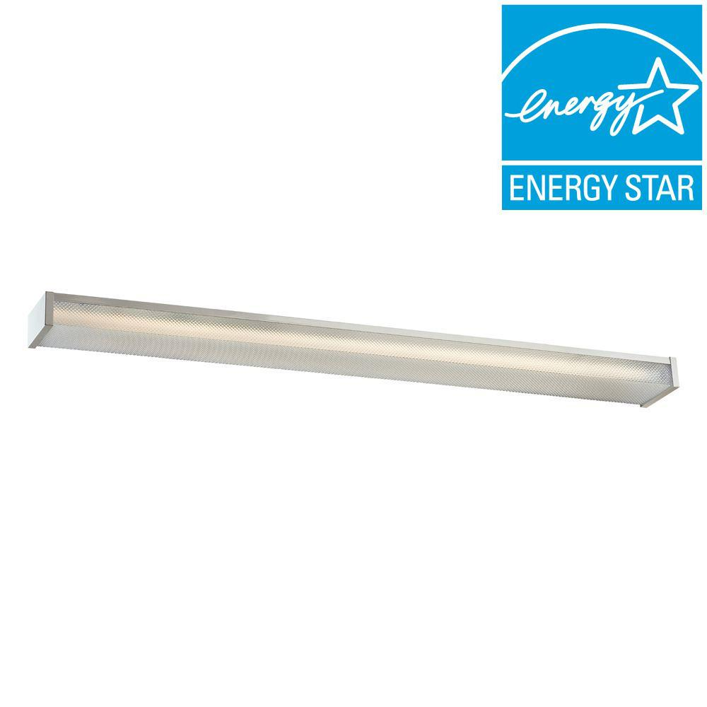 Commercial Electric 4 ft. 2-Light Fluorescent Wraparound White Surface Mount Fixture
