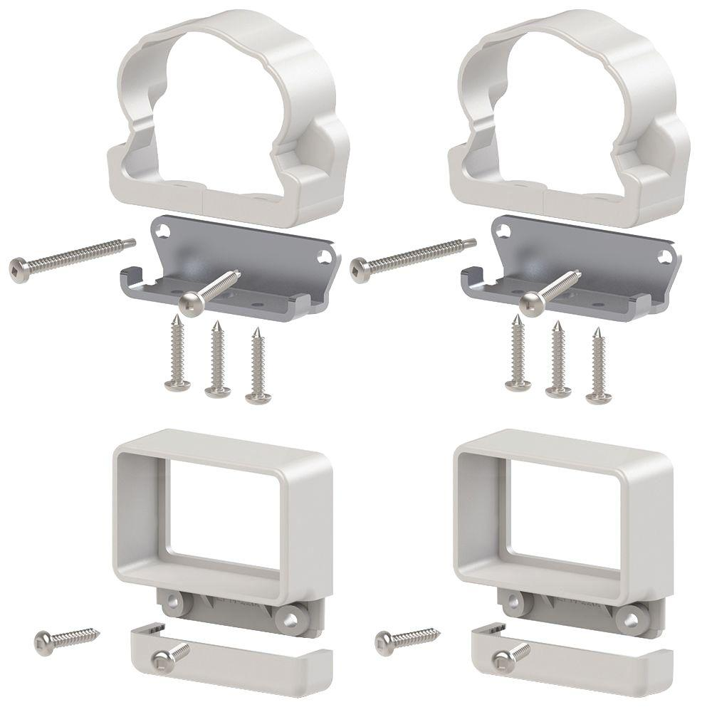Veranda Traditional/Williamsburg White Line Bracket Kit (4-Pack)