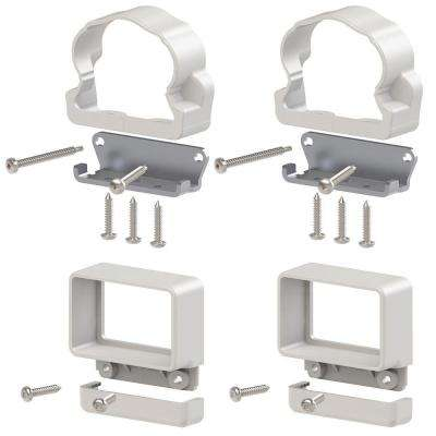 Traditional Williamsburg Vinyl Rail Line Bracket Kit (4-Pack)