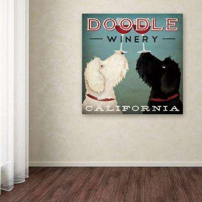 """18 in. x 18 in. """"Doodle Wine"""" by Ryan Fowler Printed Canvas Wall Art"""