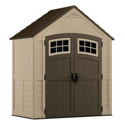Sutton 7 ft. 4.5 in. x 3 ft. 11.75 in. Resin Storage Shed
