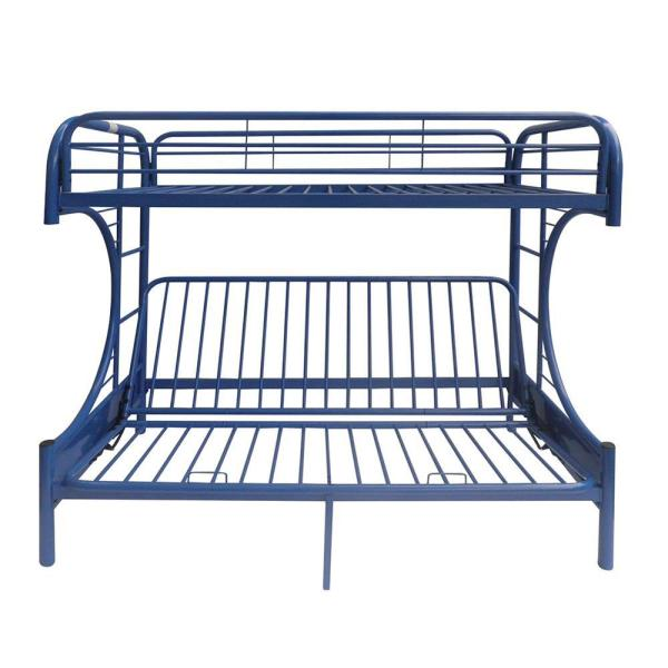ACME Furniture Eclipse Navy Twin Over Full Metal Bunk Bed 02091W-NV