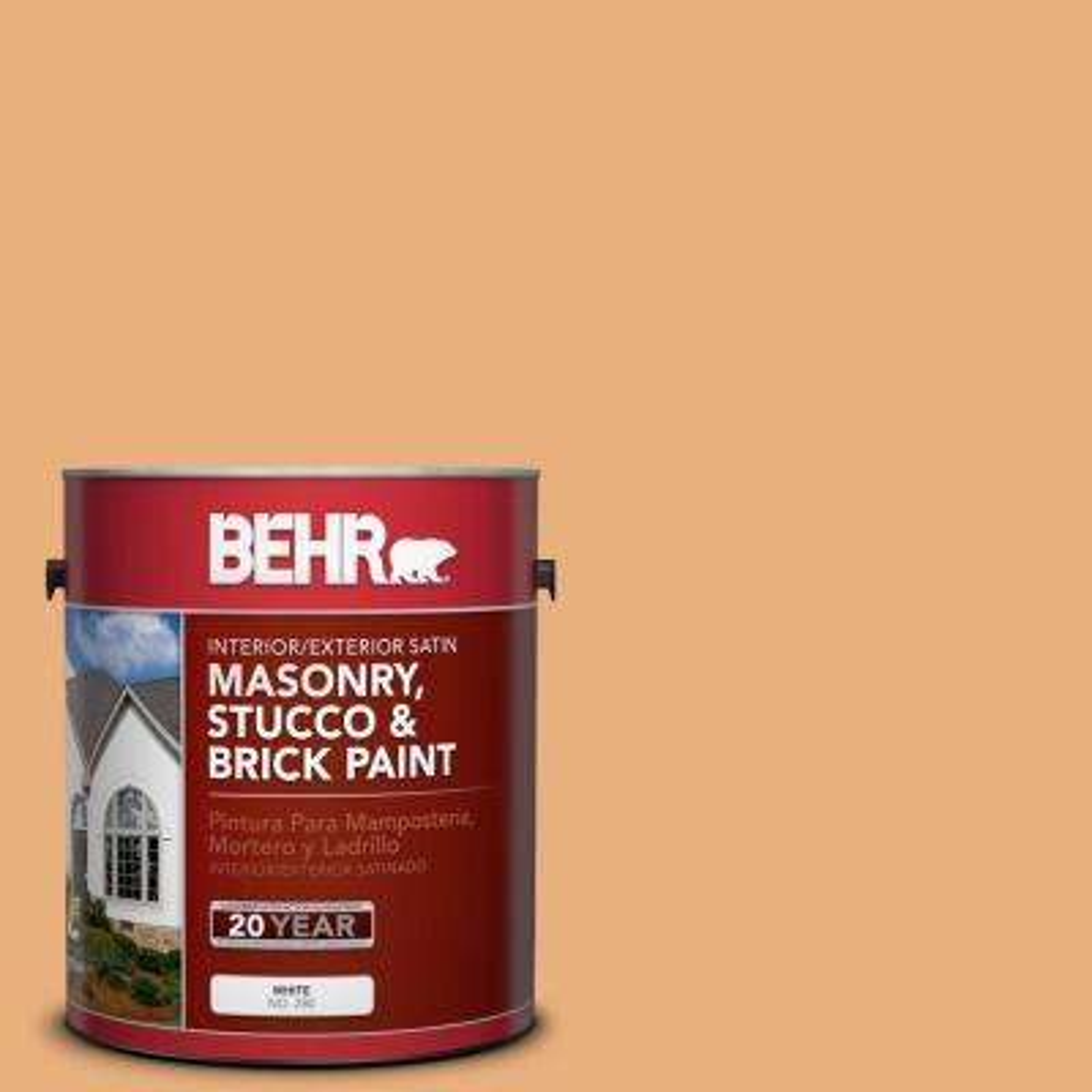 1 gal. #M240-5 Squash Bisque Satin Interior/Exterior Masonry, Stucco and Brick Paint