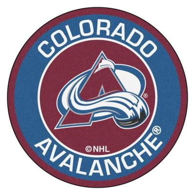 NHL Colorado Avalanche Blue 2 ft. x 2 ft. Round Area Rug