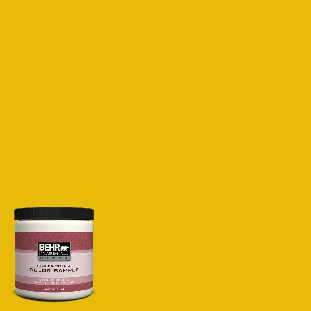 BEHR Premium Plus Ultra 8 oz. #390B-7 Lemon Lime Interior/Exterior Paint Sample
