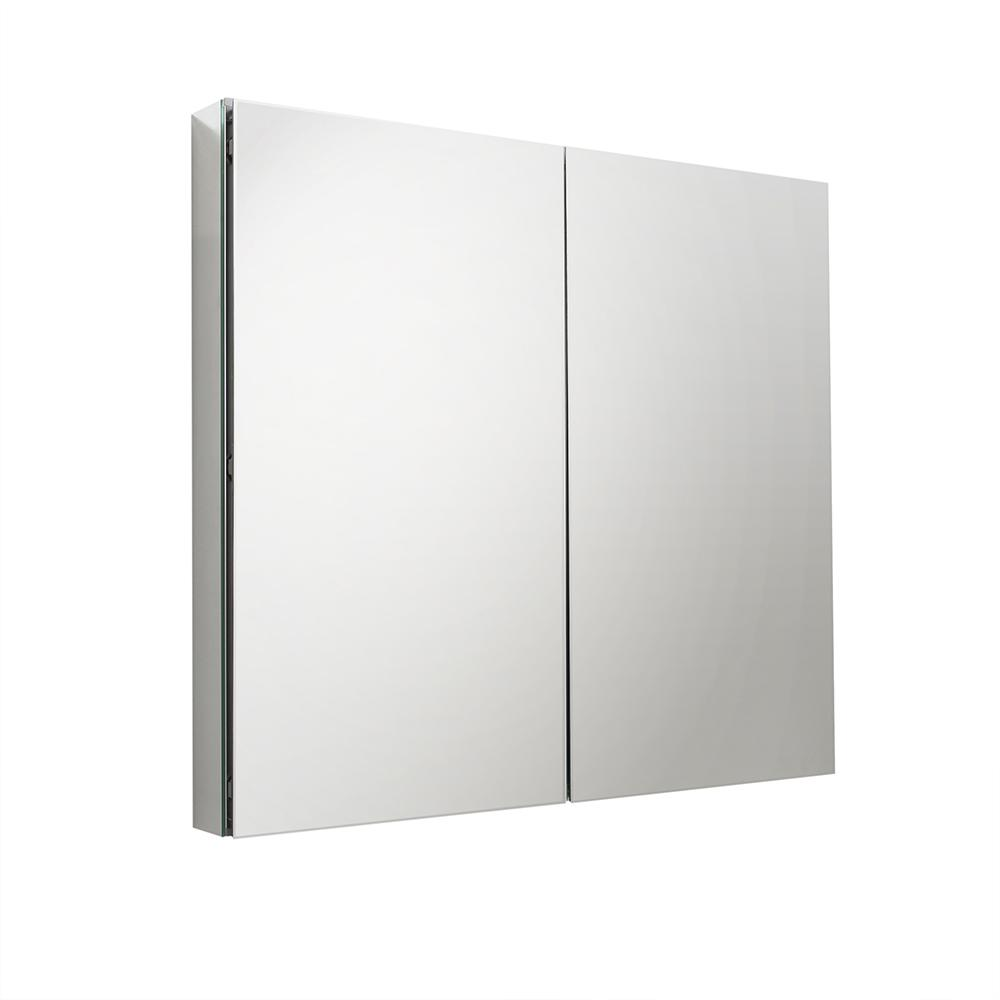 Fresca 39.50 in. W x 36 in. H x 5 in. D Frameless Recessed or Surface-Mount Bathroom Medicine Cabinet