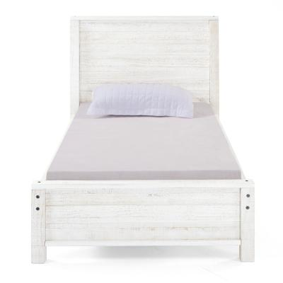 Rustic White Panel Twin Bed