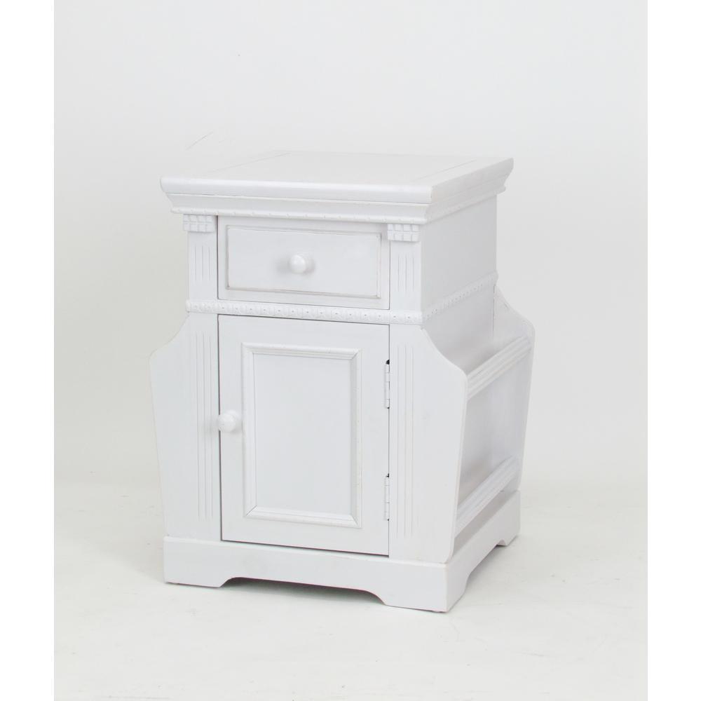 White Euphonious Magazine Cabinet