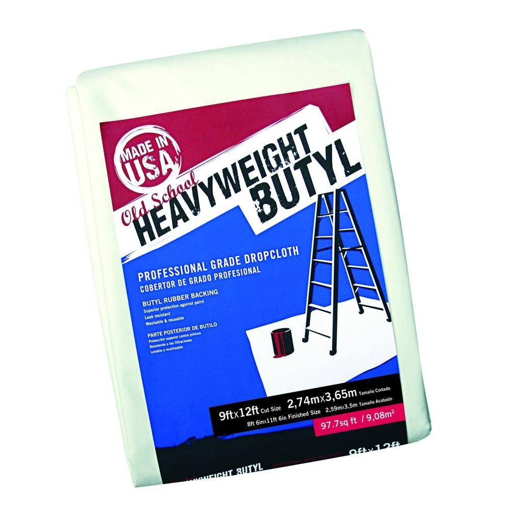 Trimaco 9 ft. x 12 ft. Old School Heavy Weight Butyl Drop Cloth