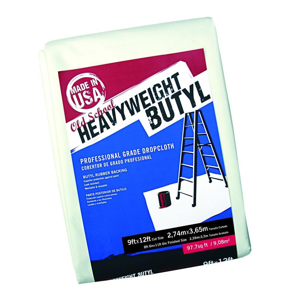 9 ft. x 12 ft. Old School Heavy Weight Butyl Drop Cloth