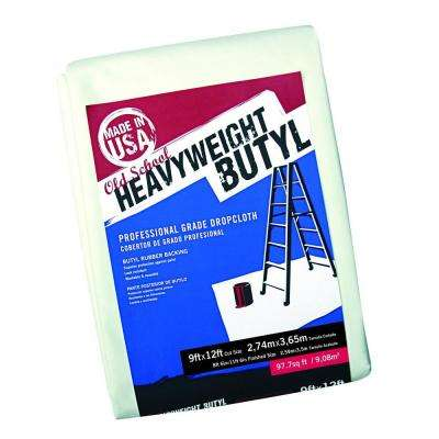 9 ft. x 12 ft. Old School Heavyweight Butyl Drop Cloth