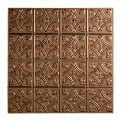 Traditional 1 - 2 ft. x 2 ft. Lay-in Ceiling Tile in Argent Bronze