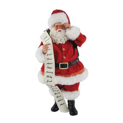 10 in. Traditional Santa with List