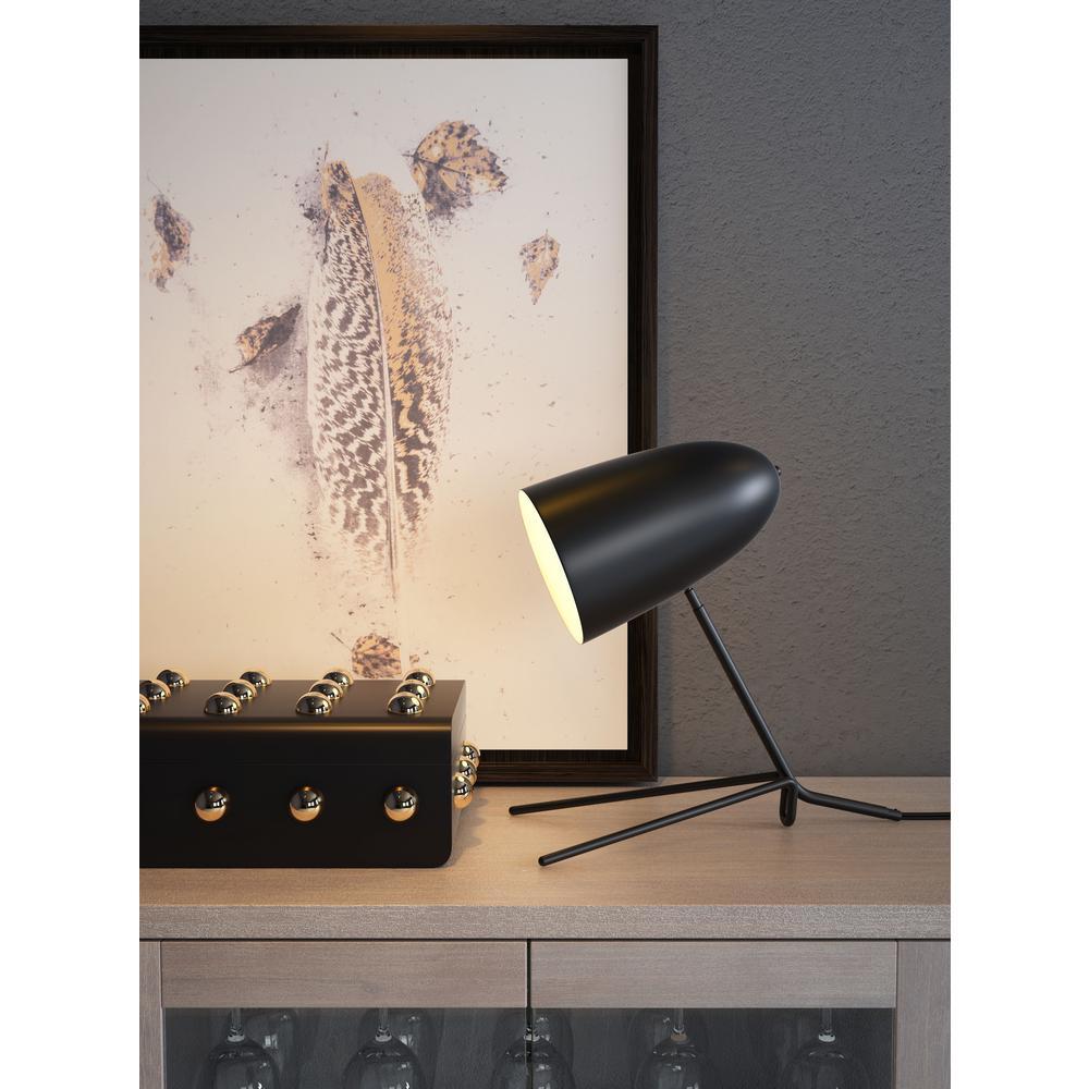 Jamison 15 in. Matt Black Table Lamp