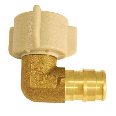 1/2 in. Brass PEX-A Expansion Barb x 1/2 in. FNPT Female Swivel 90-Degree Elbow