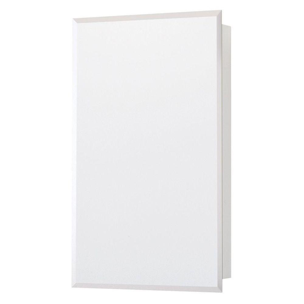Glacier Bay 16 in. W x 26 in. H Frameless Recessed or Surface-Mount Bathroom Medicine Cabinet